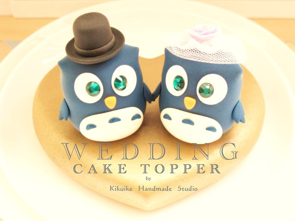Wedding Cake Topper-love Owls with sweet heart base | Flickr