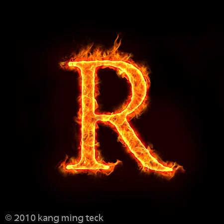 Alphabet R Wallpaper 3d
