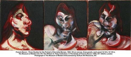 Francis Bacon - Three Studies for the Portrait of Henrietta Moraes, 1963 | by artimageslibrary