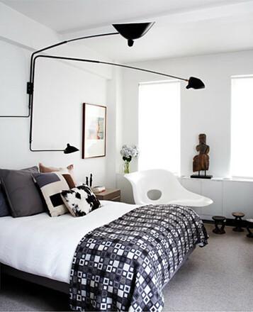 ... Hallie Burton {black and white mid-century vintage modern bedroom} | by  recent