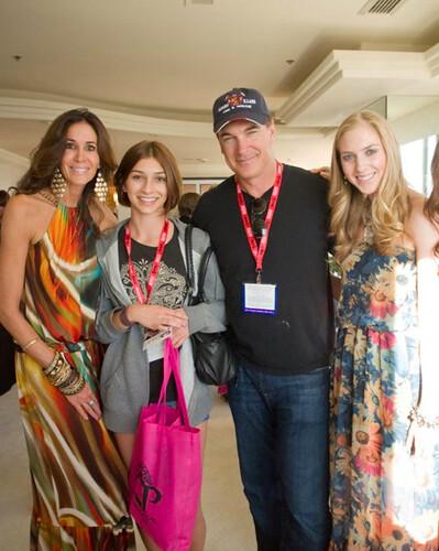 Charli Eaton and Amanda N. Hughes enjoy the company of Pat ...