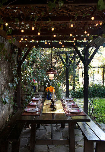 outdoor dining | by the style files