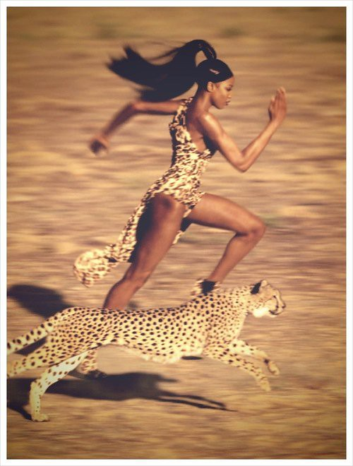 Lorra Fae Wildfire of Passion School writes about how to feel alive, how to really live, poetry about life, naomi campbell with a cheetah running in the wind