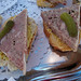 Homemade country paté with French bread and mustard from Chez Michel