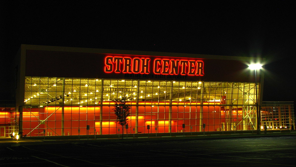 The Stroh Center at night | The Stroh Center at Bowling ...