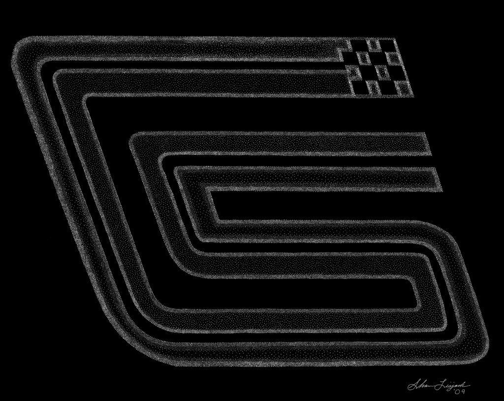 carroll shelby logo hand engraving by artist shawn lisj