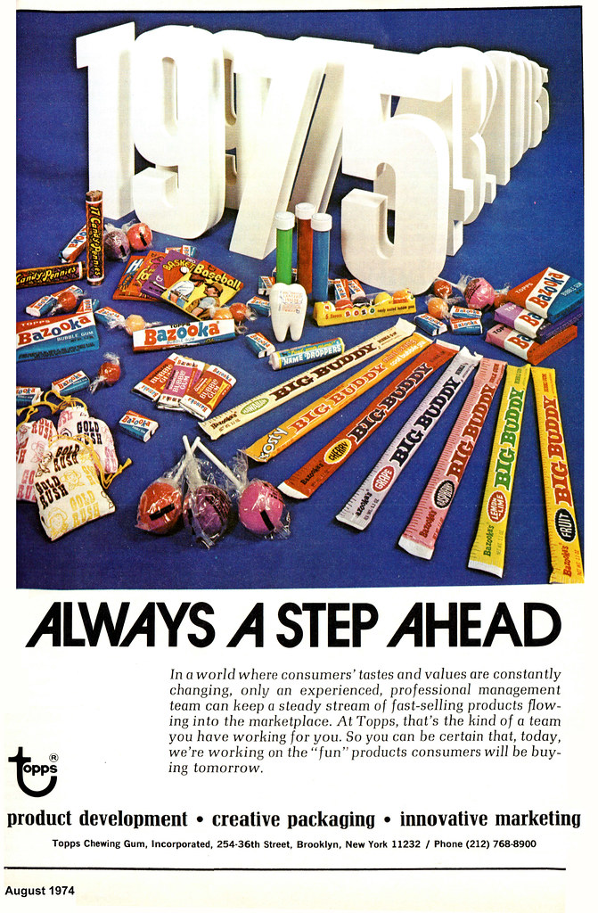 Topps - Candy Industry magazine trade ad - August 1974