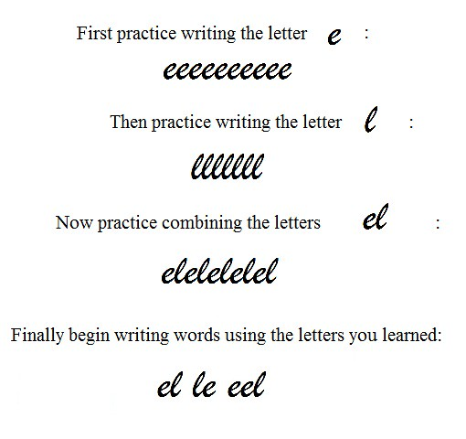 ... Writing in Cursive | by Evelyn Saenz