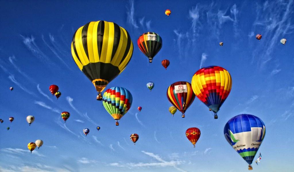 Hot Air Balloons Fill The Sky | Albuquerque International ...