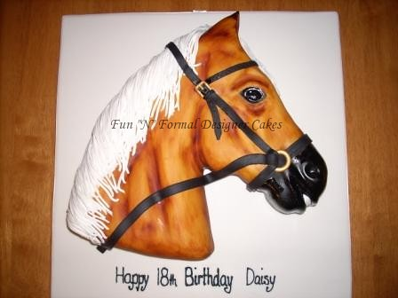 Horse Head Birthday Cake This was my entry in the Perth R Flickr
