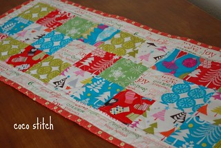 Christmas table runner | by coco stitch