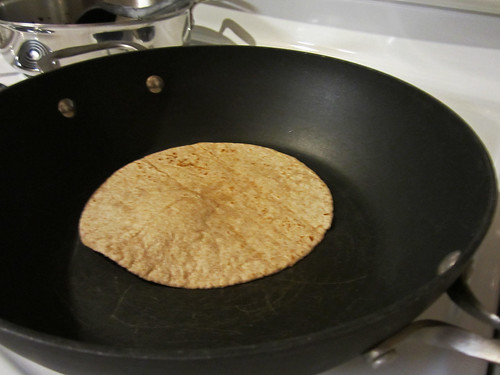 browning the tortilla | by Madison Bistro