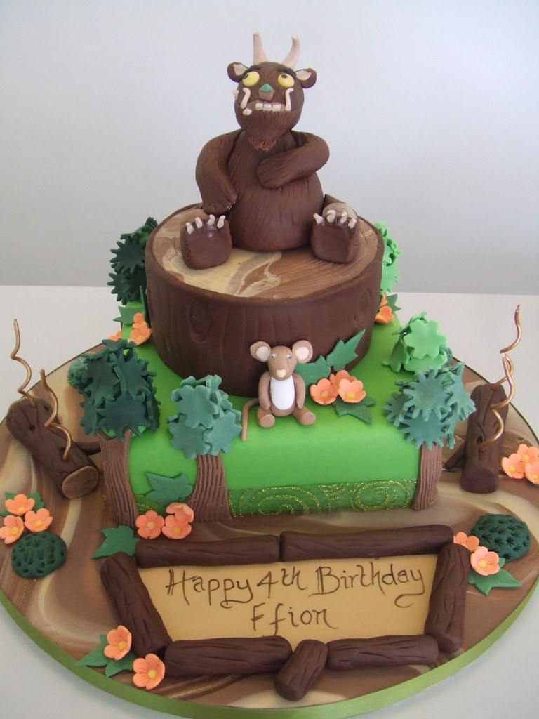 Cake Gruffalo Theme By Jules 10 And 6 Inch Sponge Is 163