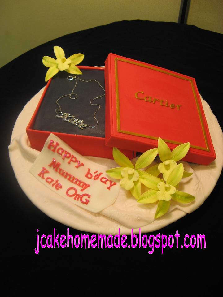 Cartier Gift Box Cake Happy Birthday Mummy Kate Ong Thank Flickr