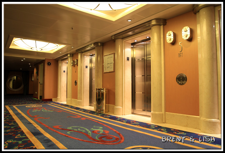 Disney Wonder Elevators Day 6 Of Our 2011 Alaska Cruise