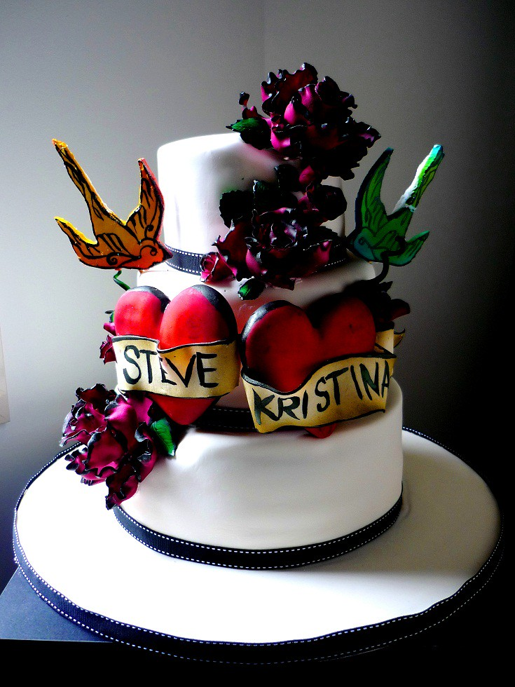 tattoo wedding cake wedding cake april robertson flickr 20764