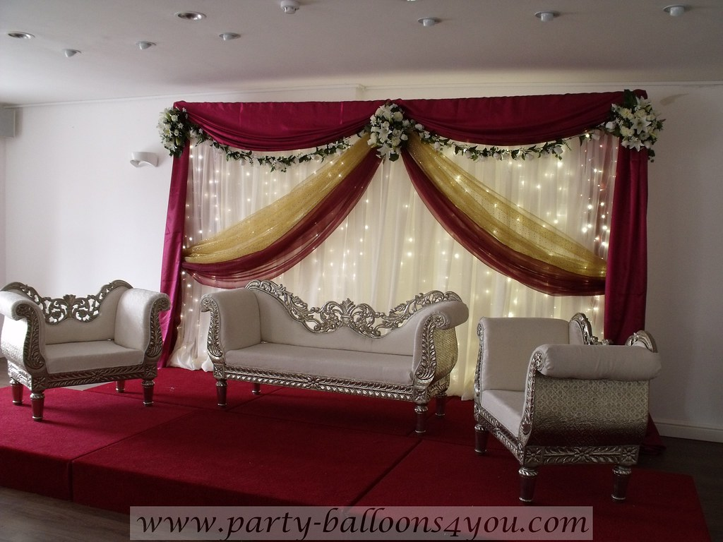 Asian wedding stage decorations bristol professional for Asian wedding decoration