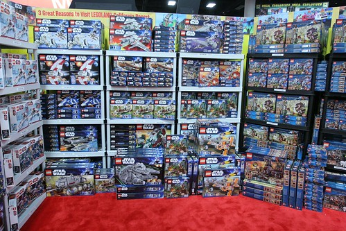 Half of the retail space at the LEGO booth - San Diego Comic Con | by fbtb
