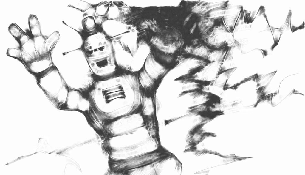crazy robot attack