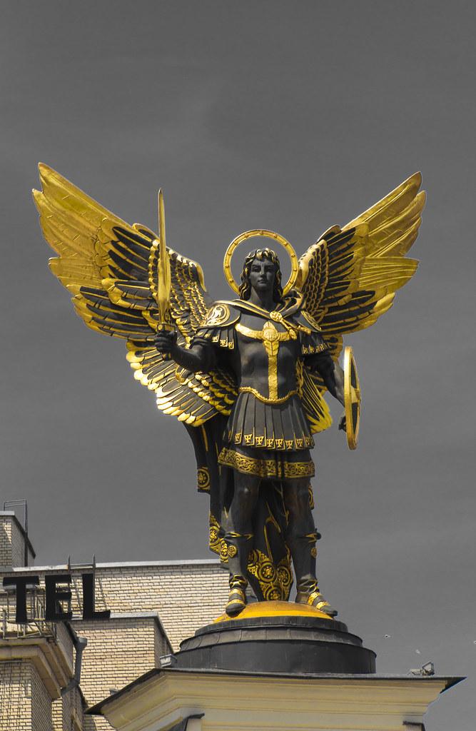 Archangel Michael Statue Kiev Ukraine of Kiev Archangel Michael