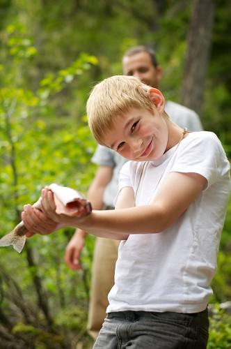BOY WITH HEADLESS TROUT | by KUHL PHOTO