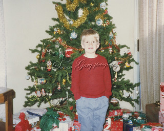 Retro Revival Young Boy and Xmas Tree | by *GloriousNature*bySusanGaryPhotography