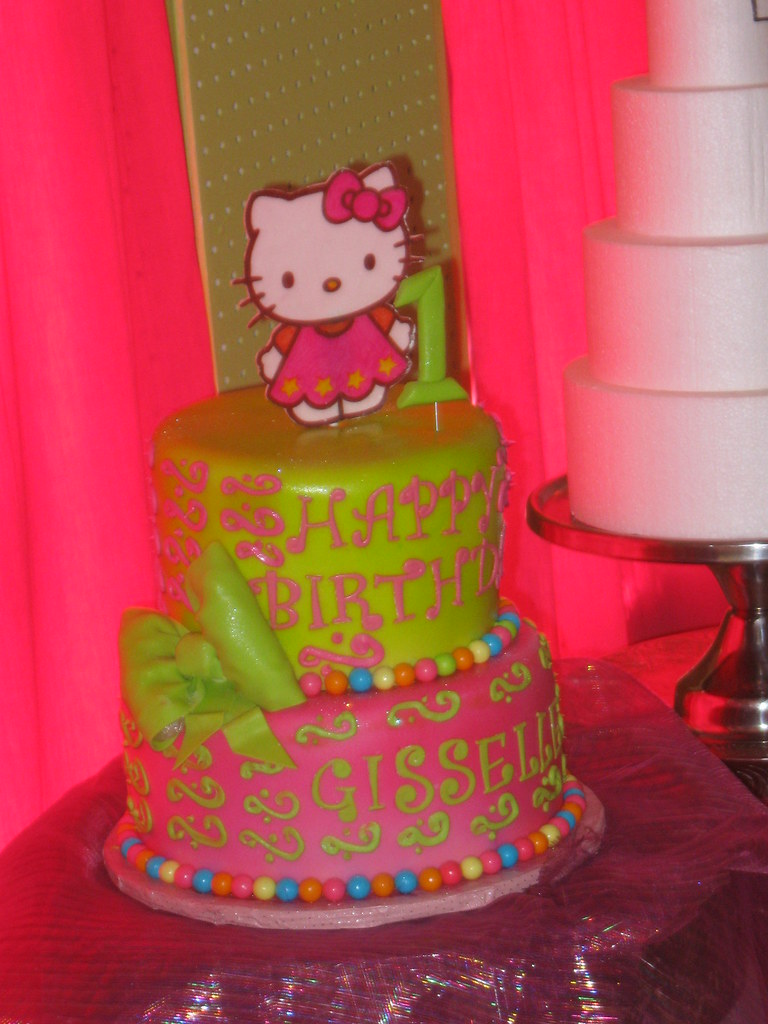 Hello Kitty 1st Birthday Cake Hello Kitty Cake Made To Mat Flickr