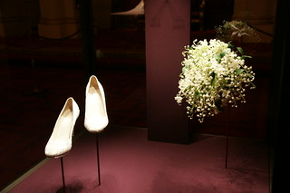 The Duchess of Cambridge's wedding shoes and bouquet | by The British Monarchy