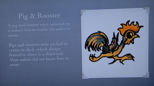Pig rooster tattoos flickr photo sharing for Pig and rooster tattoo meaning