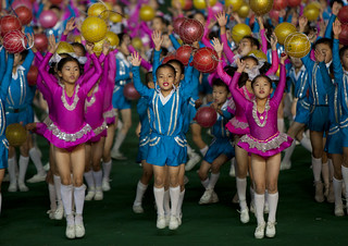 Kids in Arirang Mass Games in May Day stadium Pyongyang- North Korea | by Eric Lafforgue