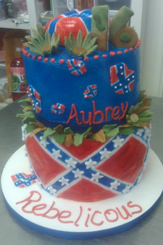 rebel flag cake | My signature style cake!!!! this one makes… | Flickr