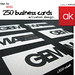 business card giveaway