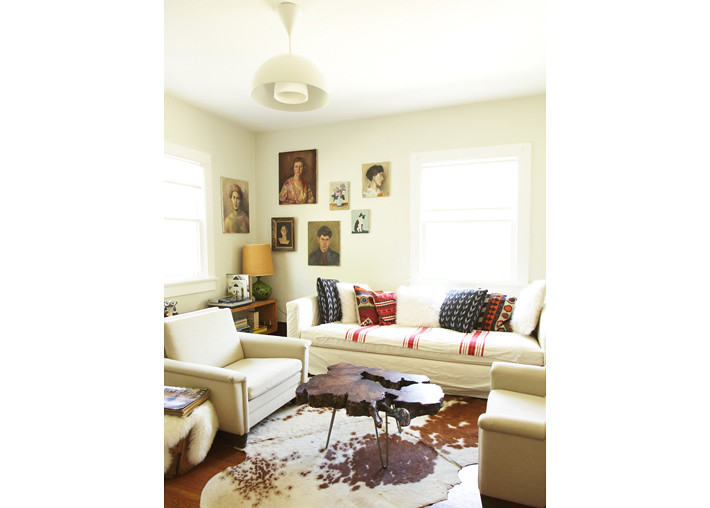 Laure joliet white vintage modern living room brooklyn for Living room brooklyn