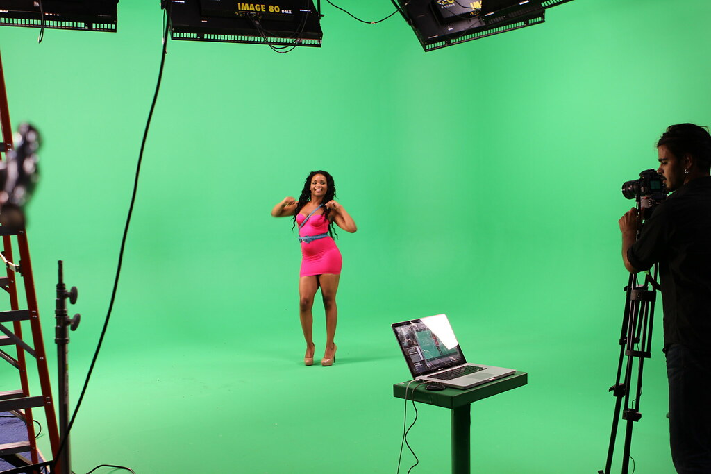 Green Screen Shot Behind The Scenes Of Loyal Studios