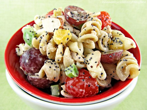 Poppy Seed Pasta Salad | by CinnamonKitchn