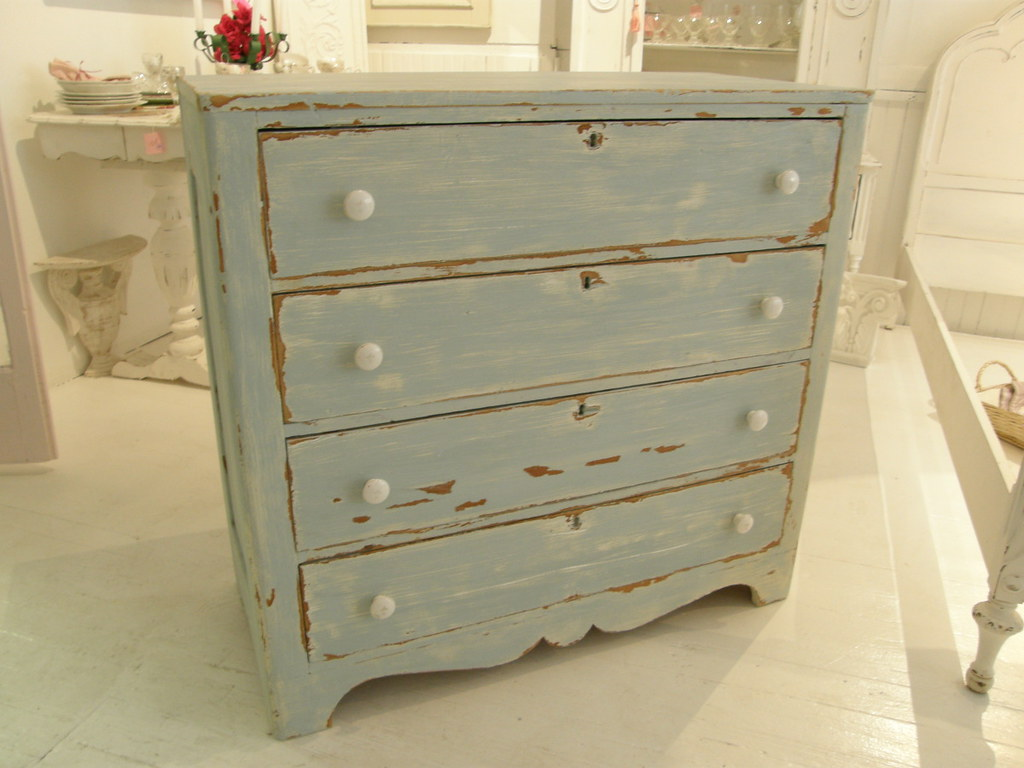 antique dresser blue distressed finish shabby chic flickr. Black Bedroom Furniture Sets. Home Design Ideas