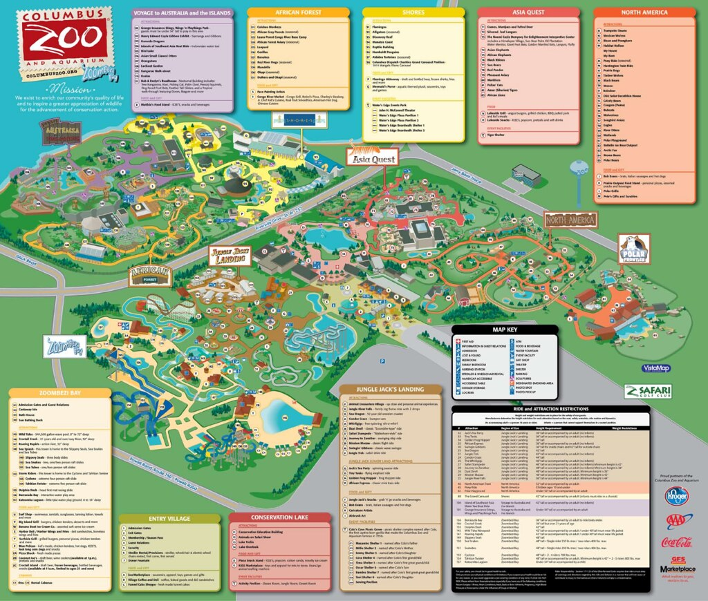 columbus zoo map