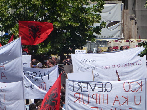 Vetevendosje! protest banners and flags | by The Advocacy Project