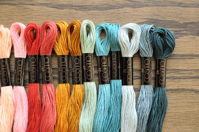 Cosmo Embroidery Floss Palette - City Rain | Flickr - Photo Sharing!