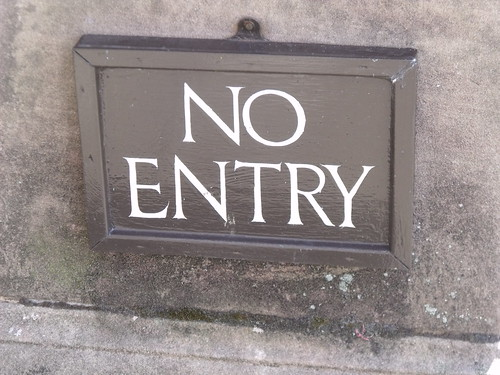 Houghton Hall - West Front - No Entry - sign | by ell brown