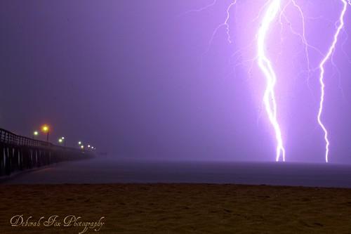 Lightning at lynnhaven fishing pier virginia beach va for Lynnhaven fishing pier report
