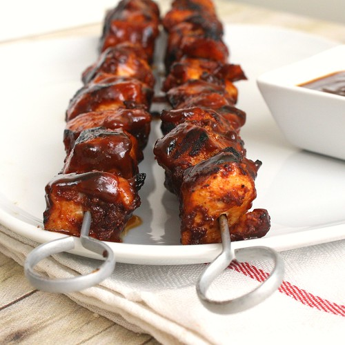 Barbecued Chicken Kebabs | by Tracey's Culinary Adventures