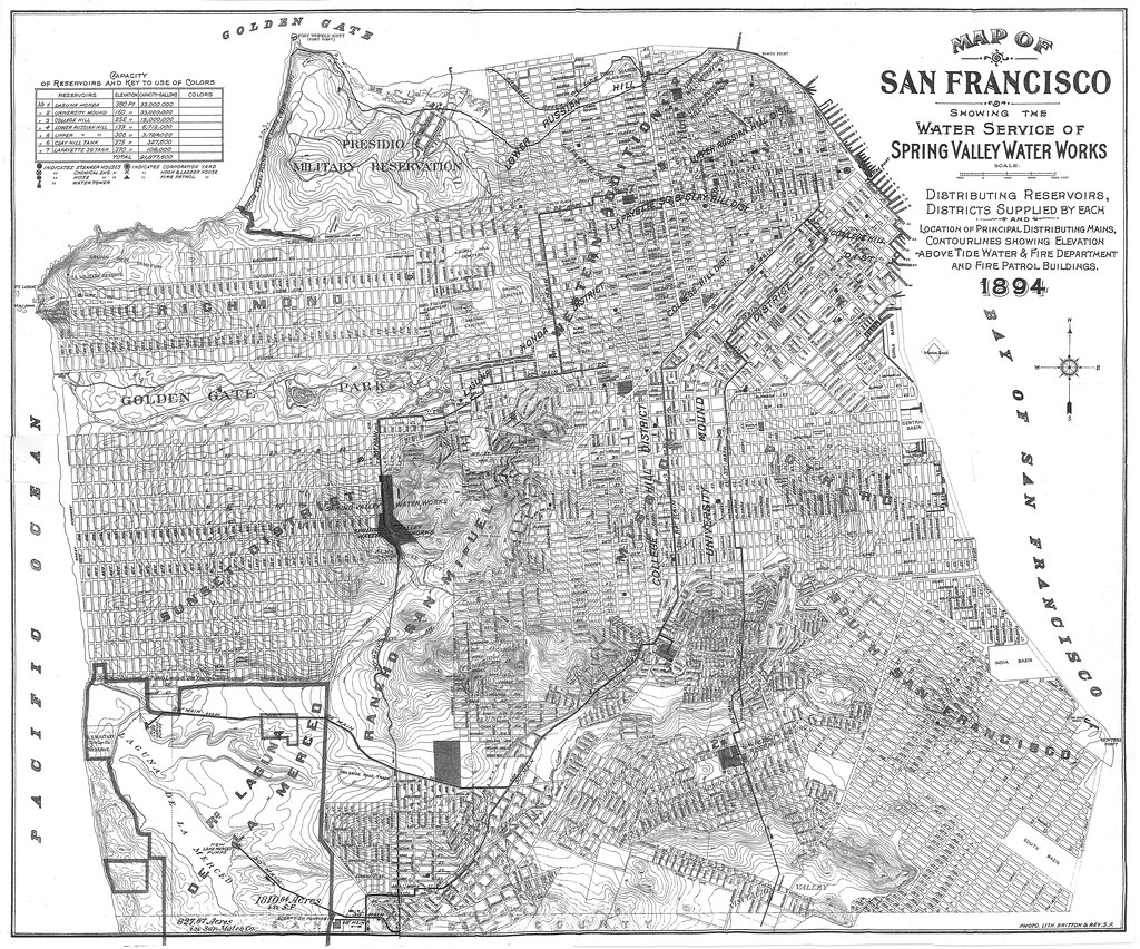 Map of San Francisco Showing the Water Service of Spring V Flickr