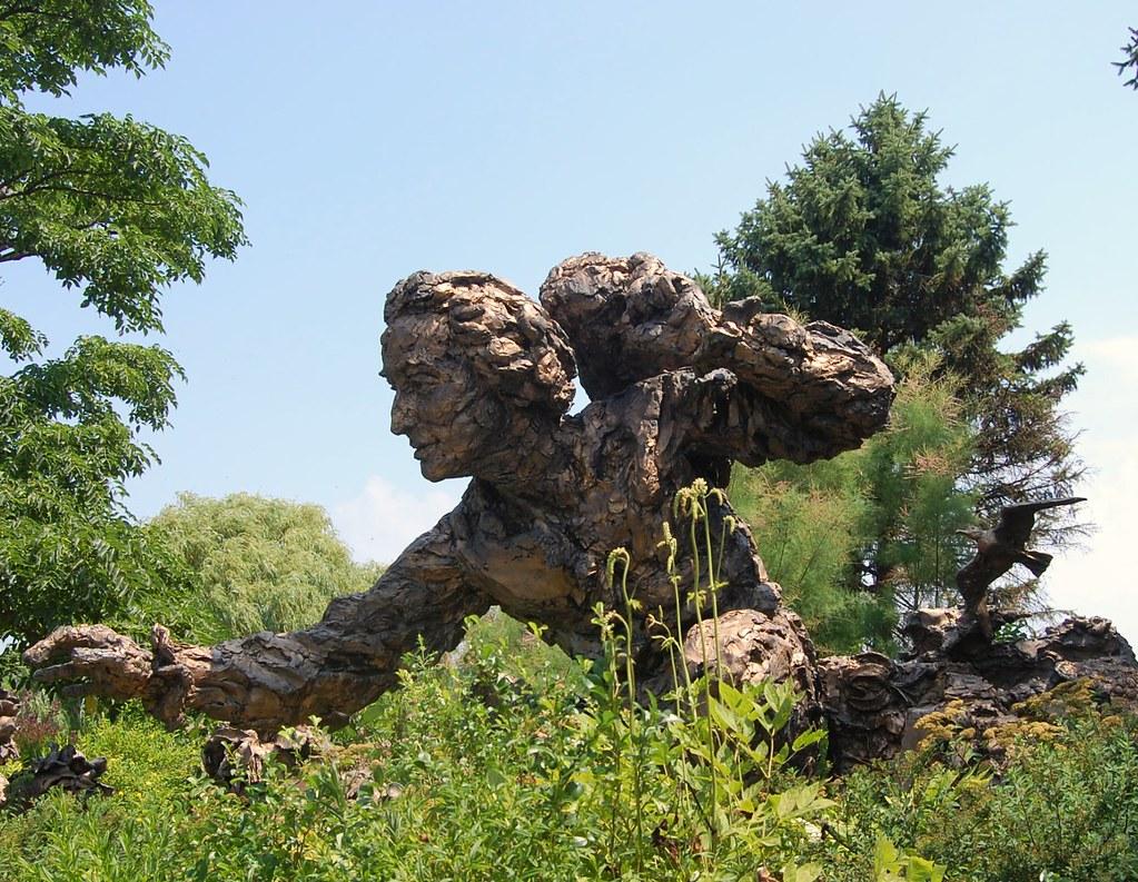 Chicago Botanic Garden Sculpture Of Carl Linnaeus In The Flickr