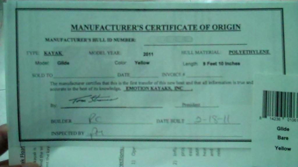 Manufacturers Certificate Of Origin Tennisheads Flickr