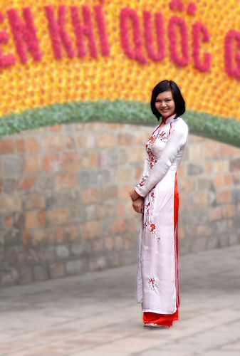 Ao Dai in white | by trevphotos