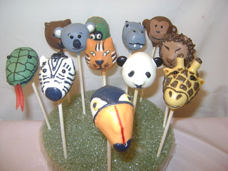 Zoo Animal Cake Pops (1) | by Cathy (A Twist of Cake)