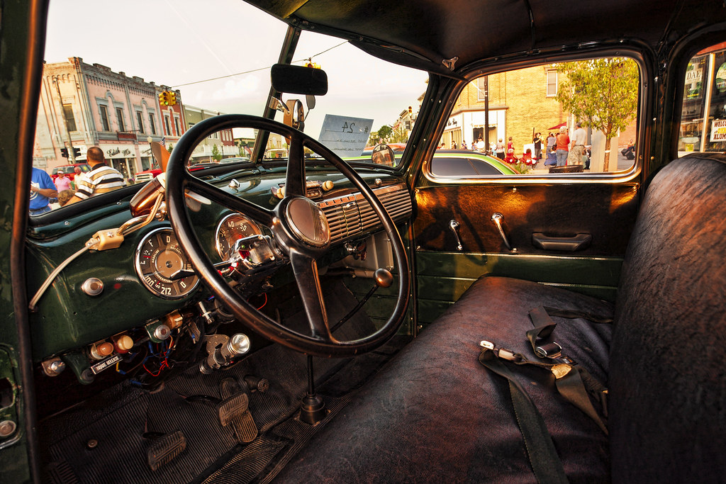 Old Chevy Truck interior | George Thomas | Flickr