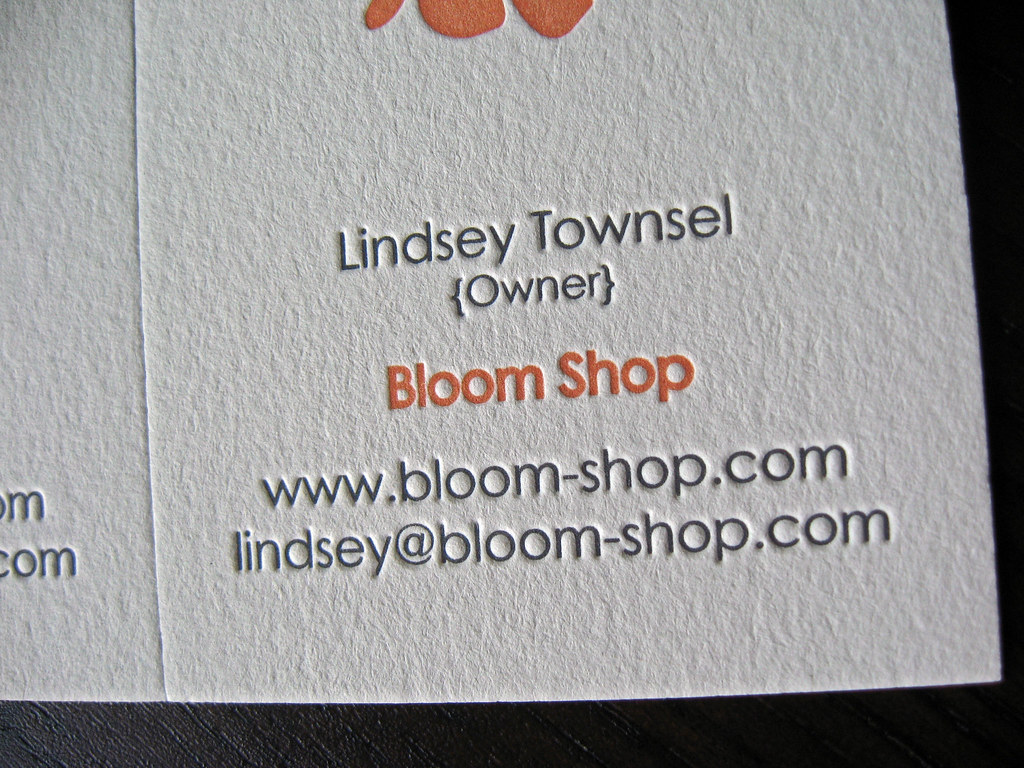 Contact Information on Bloom Business Card | Client: Lauren … | Flickr