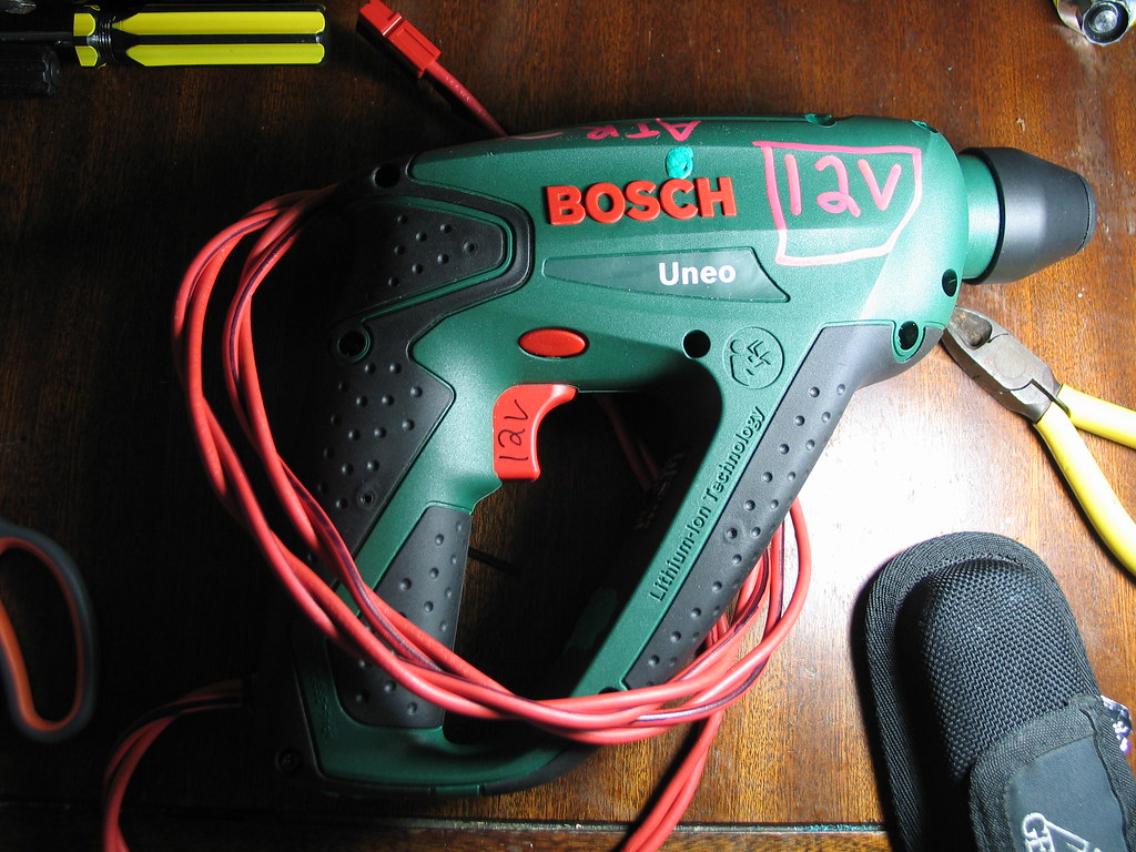 bosch uneo converted for caving service external battery flickr. Black Bedroom Furniture Sets. Home Design Ideas